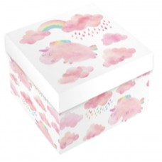 Набор коробок, Мечты в облаках (радужный единорог), Розовый, 28*28*14 см, 10 шт.