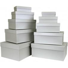Набор коробок, Серебро, 32*20*12 см, 10 шт.