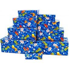 Набор коробок Динозаврики, С Днем Рождения!, 30*20*13 см, 10 шт.