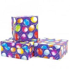 Набор коробок, Воздушные шарики, Синий, 20*20*10 см, 3 шт.
