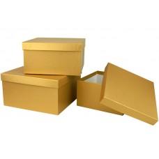 Набор коробок, Золото, 19*19*11 см, 3 шт.