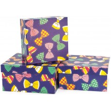 Набор коробок, Галстук-бабочка, Синий, 20*20*10 см, 3 шт.