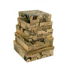 Набор коробок, Новости рукоделия, Крафт, 30*30*10 см, 5 шт.