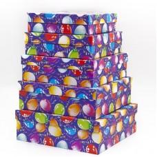 Набор коробок Воздушные шарики, Синий, 30*30*10 см, 5 шт.