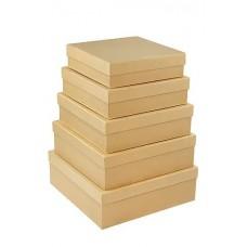 Набор коробок Крафт, 30*30*10 см, 5 шт.