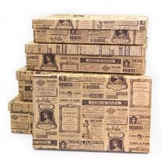 Набор коробок Буклет для дамы, Крафт, 40*28*10 см, 5 шт.