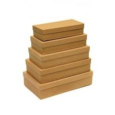 Набор коробок Крафт, 30*18*7 см, 5 шт.