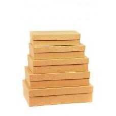 Набор коробок Крафт, 40*28*10 см, 5 шт.