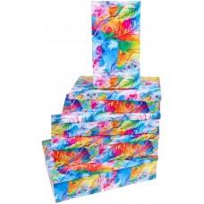 Набор коробок Акварель, 30*20*8 см, 5 шт.