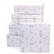 Набор коробок Девочка-припевочка, 30*30*10 см, 5 шт.