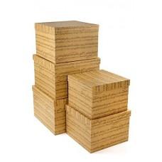 Набор коробок Мелодия, Крафт, 30*30*20 см, 5 шт.