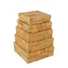 Набор коробок Письма, 30*30*10 см, 5 шт.