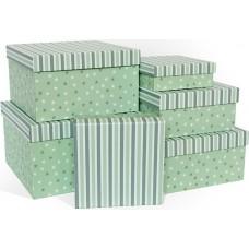 Набор коробок Звездный час, Мятный, 25*25*15 см, 6 шт.