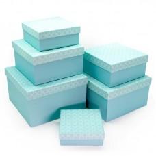 Набор коробок Нежность, Бирюзовый, 25*25*15 см, 6 шт.