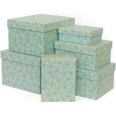 Набор коробок Звездный час, Мятный, 25*21*15 см, 6 шт.
