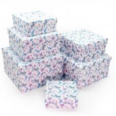 Набор коробок Вальс бабочек, Голубой, 25*25*15 см, 6 шт.