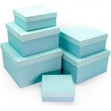 Набор коробок Нежность, Аквамарин, 25*25*15 см, 6 шт.