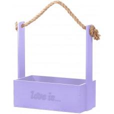 Декоративный ящик Love is, Сиреневый, 24*12*28 см, 1 шт.