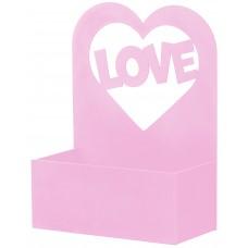 Декоративный ящик Любовь, Розовый, 24*12*32 см, 1 шт.