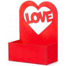 Декоративный ящик Любовь, Красный, 24*12*32 см, 1 шт.