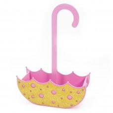 Декоративный ящик Зонтик, Розовый, с блестками, 24*9*10 см, 1 шт.