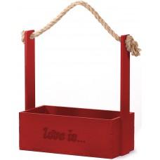 Декоративный ящик Love is, Красный, 24*12*28 см, 1 шт.