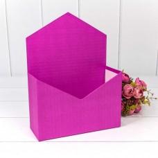 Коробка подарочная Конверт, Фуше, 24*18*7 см, 1 шт.