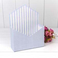 Коробка подарочная, Конверт, Сиреневый, 24*18*7 см, 1 шт.