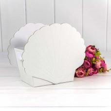 Коробка подарочная Ракушка, Белый, 19*12*16 см, 1 шт.