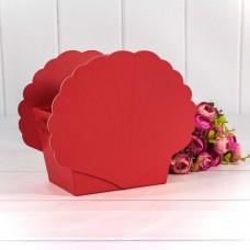 Коробка подарочная Ракушка, Красный, 19*12*16 см, 1 шт.