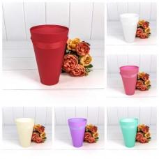 Набор коробок Ваза для цветов, Конус, Ассорти, 20*13*7 см, 6 шт.