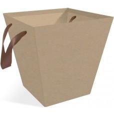 Коробка подарочная Трапеция, Крафт, 19*19*20 см, 10 шт.