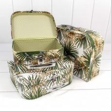 Набор коробок Чемодан, Пальмовые листья, 30*21*9 см, 3 шт.