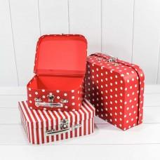 Набор коробок Чемодан, Элегантный микс, Красный, 30*21*9 см, 3 шт.