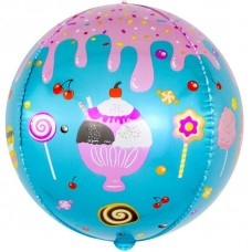Шар (24''/61 см) Сфера 3D, Десерты и сладости, 1 шт.