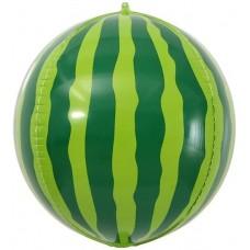 Шар (24''/61 см) Сфера 3D, Арбуз, 1 шт.