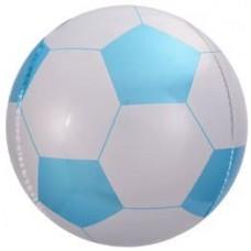 Шар (23''/58 см) Сфера 3D, Футбольный мяч, Голубой, 1 шт.