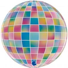 Шар (18''/46 см) Сфера 3D, Сверкающее диско, Разноцветный, 1 шт.