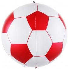 Шар (23''/58 см) Сфера 3D, Футбольный мяч, Красный, 1 шт.