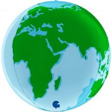 Шар (18''/46 см) Сфера 3D, Планета Земля, 1 шт.