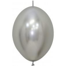 Линколун (12''/30 см) Reflex, Зеркальный блеск, Серебро (981), хром, 25 шт.