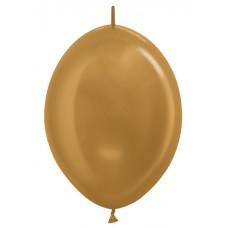 Линколун (6''/15 см) Золото яркое (570), металлик, 100 шт.