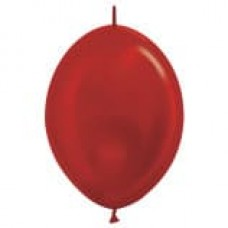 Линколун (6''/15 см) Красный (515), металлик, 100 шт.