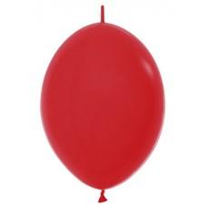 Линколун (6''/15 см) Красный (015), пастель, 100 шт.
