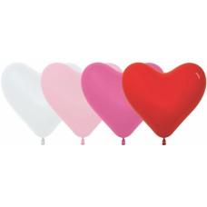 Сердце (12''/30 см) Ассорти, пастель, 50 шт.
