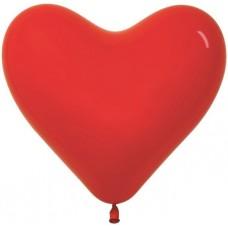 Сердце (12''/30 см) Красный (015), пастель, 100 шт.