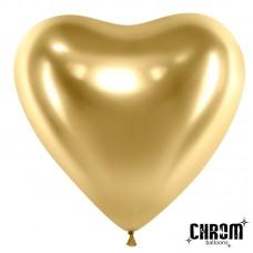 Сердце (12''/30 см) Золото, хром, 50 шт.