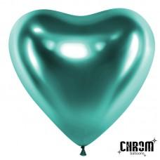 Сердце (12''/30 см) Зеленый, хром, 50 шт.