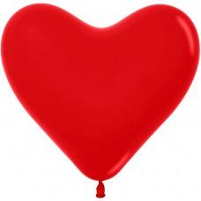 Сердце (12''/30 см) Красный (015), пастель, 50 шт.