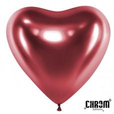 Сердце (12''/30 см) Розовый, хром, 50 шт.